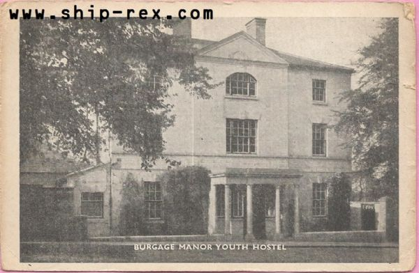 Burgage Manor Youth Hostel, Southwell - postcard